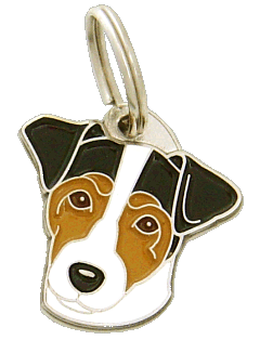 RUSSELL TERRIER TRICOLOR - pet ID tag, dog ID tags, pet tags, personalized pet tags MjavHov - engraved pet tags online